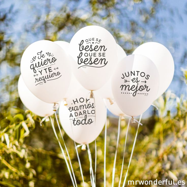 Globos de boda de Mr Wonderful