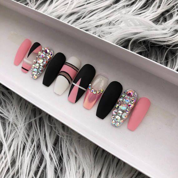 Press on nails Coffin press on nails Coffin false nails