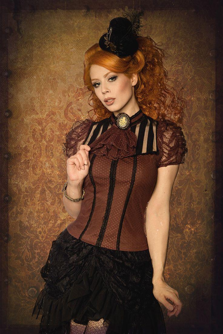 Redhead steampunk girls