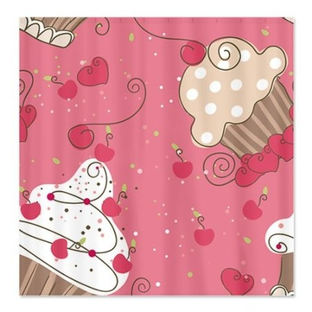 Amazon.com: Pink Cupcakes Shower Curtain By CafePress   White: Home U0026  Kitchen