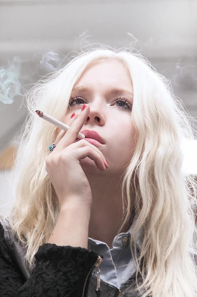 Bleach Blonde Hair - Smoking - Smoker  Hair  Pinterest -6463