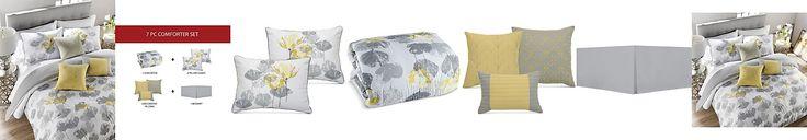 Posy Reversible 7-Pc. Queen Comforter Set