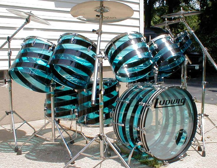 Ludwig Vistalite Theese Are Like My Dream Drums Drums