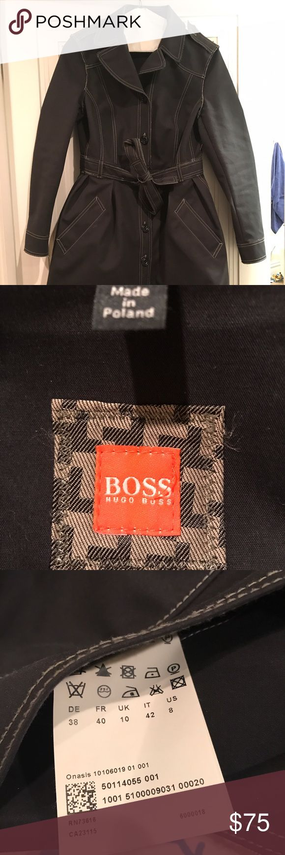Selling this Hugo Boss trench coat on Poshmark! My username is: aliciashroff. #shopmycloset #poshmark #fashion #shopping #style #forsale #BOSS ORANGE #Jackets & Blazers