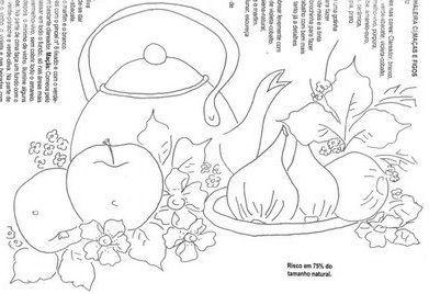 ESPAÇO DA CRIS: Riscos Pintura em Tecido - Frutas e Legumes