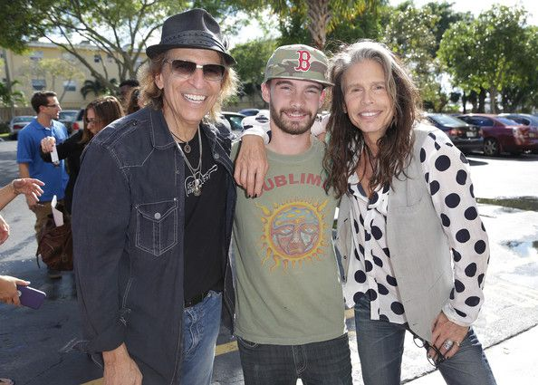 Steven Tyler Taj Monroe Tallarico Photos - Richie Supa, Taj Monroe Tallarico and Steven Tyler are seen at Recovery Unplugged on November 10, 2014 in Fort Lauderdale, Florida. Steven Tyler performed and spoke with clients of Recovery Unplugged Treatment Center to provide the powerful, inspirational message of recovery through music with longtime friend, singer/songwriter, Richie Supa. - Recovery Unplugged Event
