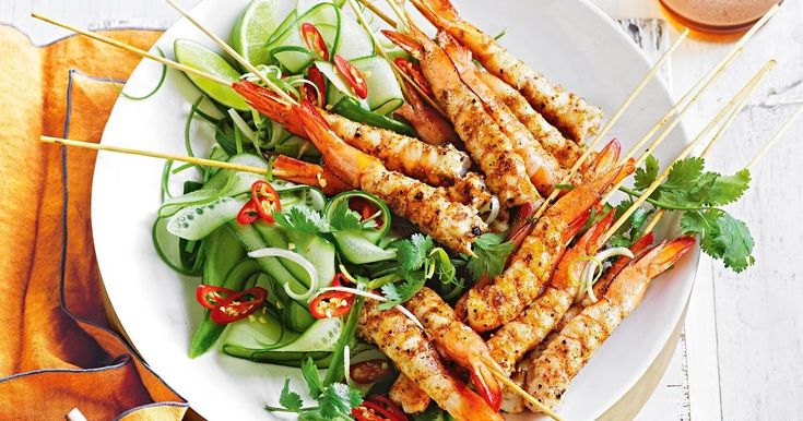 Serve these chargrilled salt and pepper prawns with ginger-lime mayonnaise.