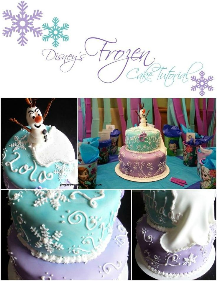 Disney's Frozen Cake Tutorial will teach you the step by step process in making this cake,