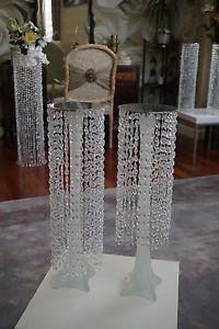 3 feet iridescent wedding aisle decoration crystal pillars pedestals columns