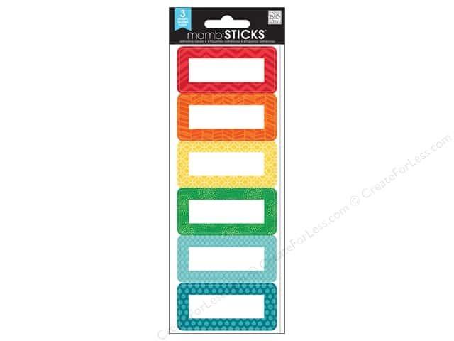 MAMBI Sticker Sticks Sm Labels Tiny Prints White -- CreateForLess