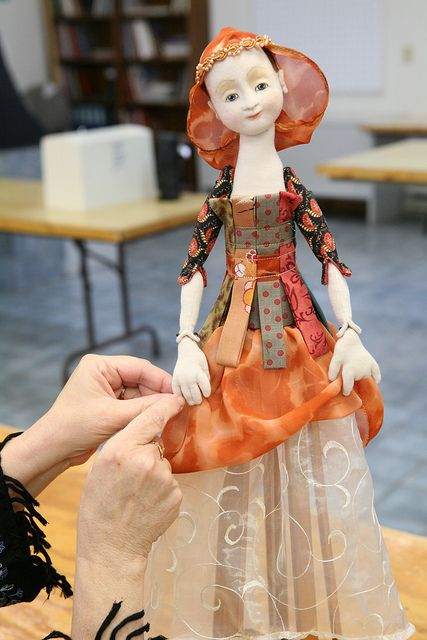 Santos Cage Skirt Doll with Leslie Molen | Flickr - Photo Sharing! I loved making this doll!