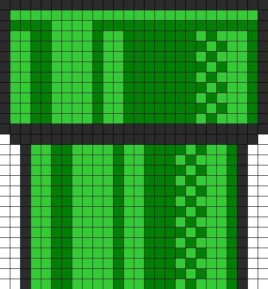 Mario tube bead pattern