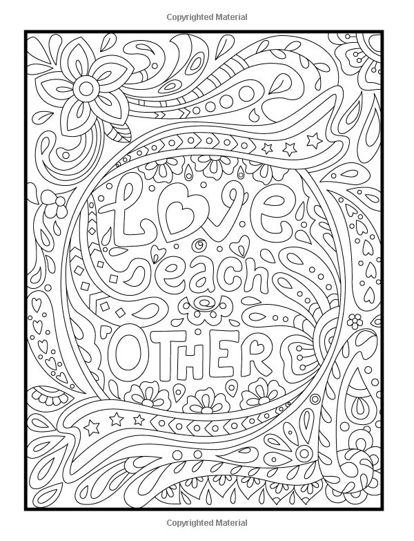 amazoncom inspirational quotes an adult coloring book with motivational sayings positive - Ap Coloring Book