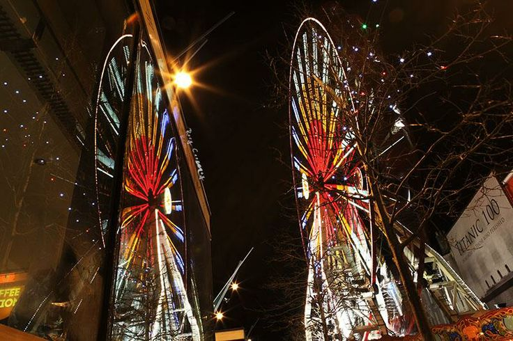 Reflecting on Christmas Cork. Tweeted by @Rory Coomey