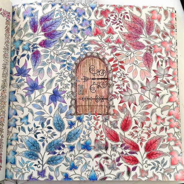 Secret Garden Porta Central Jardim Secreto Johanna Basford Coloring BookJoanna