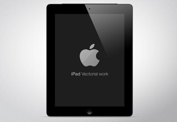 Free PSD mockup of the new iPad