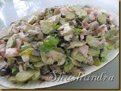 венский салат, австрийская кухня, салат с маринованными огурцами, новый вкусный салат