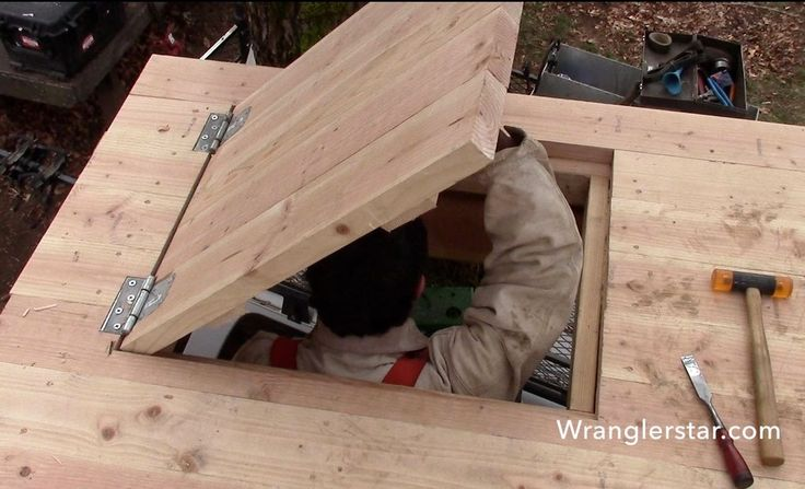 Treehouse Secret Trap Door   14 Wranglerstar