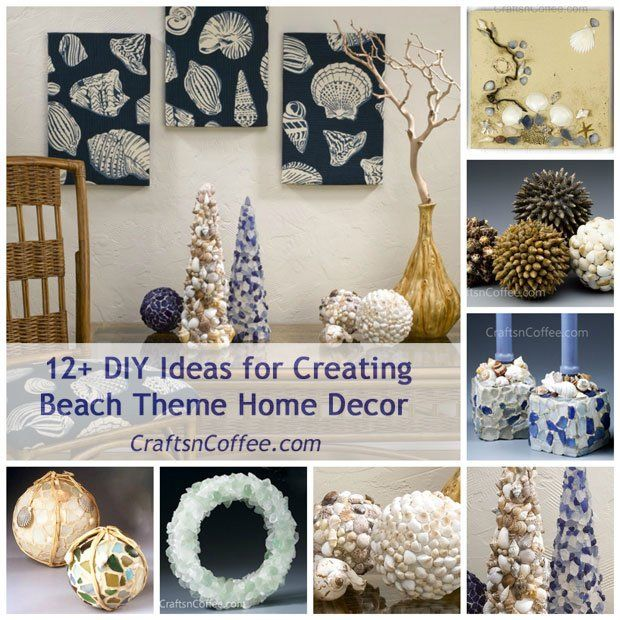 The 35 best images about beach theme home decor on for Home decor arts and crafts ideas