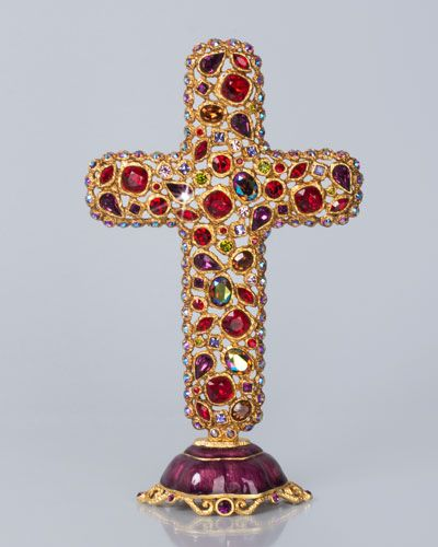 H74Q5 Jay Strongwater Theresa Bejeweled Cross