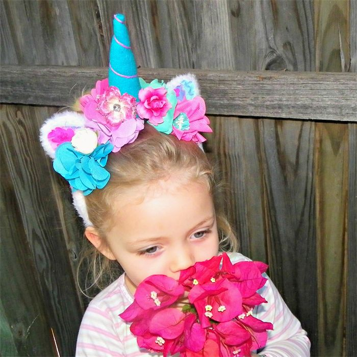 Unicorn magical flower crown headband | Puddle Ducklings | madeit.com.au
