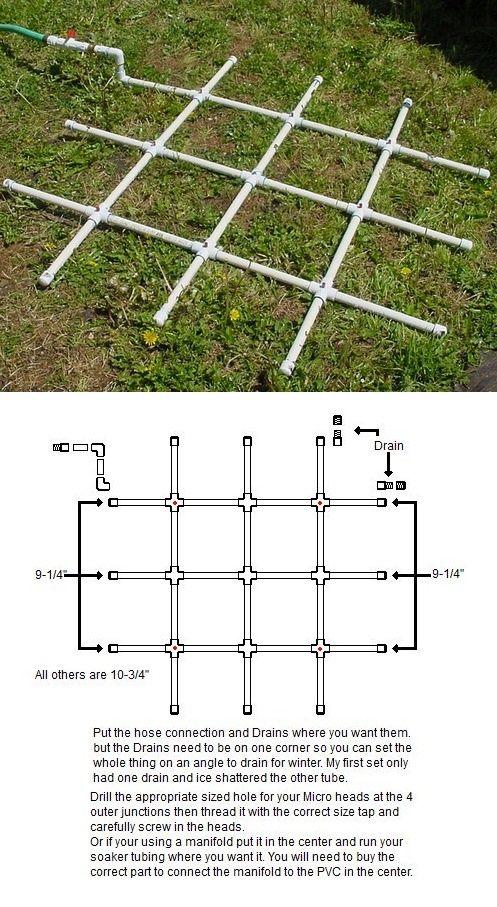 find this pin and more on urban farming by design square foot garden pvc water sprinkler - Garden Sprinkler Design