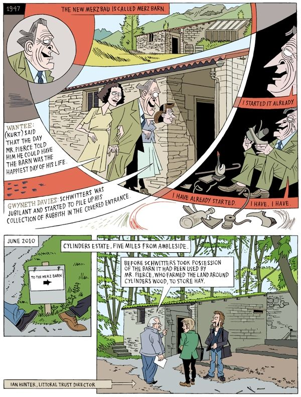 Lars Fiske's graphic novel on Kurt Schwitters at Madlab in Manchester.