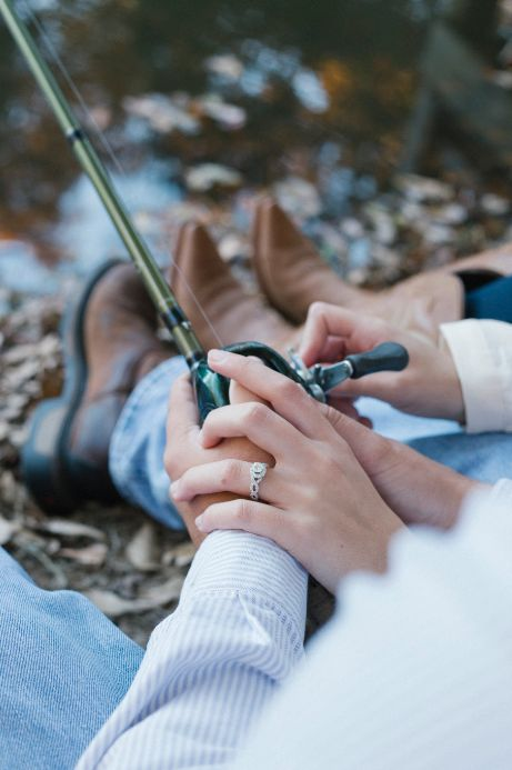 Fishing themed engagement photo shoot