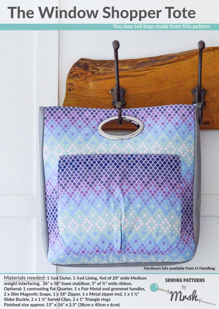 At home with Mrs H: The Window Shopper Tote {Testers Pics}
