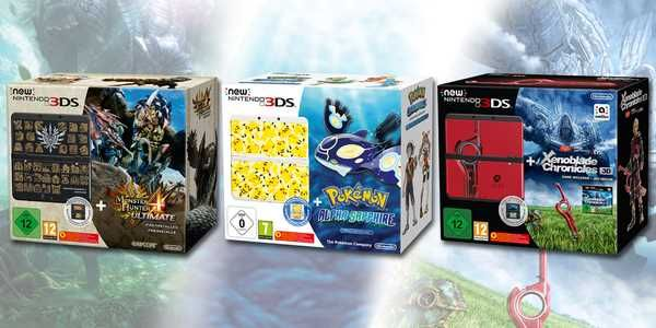 Europe Gets Three New 3DS Bundles: MH4U, Alpha Sapphire and Xenoblade