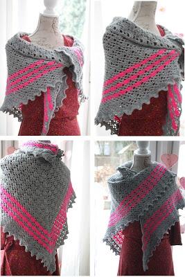 Mooie omslagdoek, met links naar het patroon