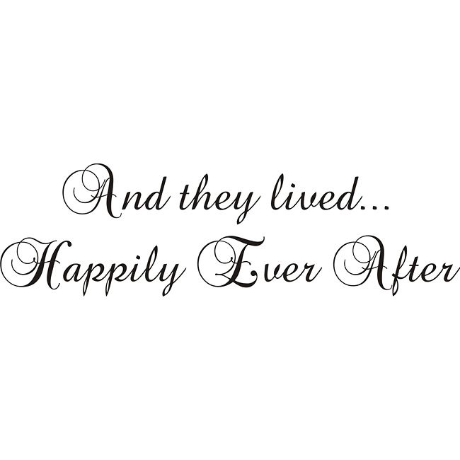 Design on Style 'And They Lived Happily Ever After' Vinyl Wall Art Quote