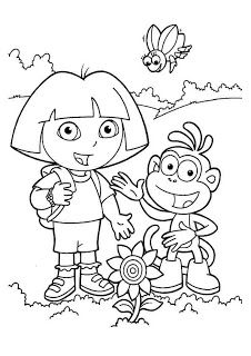 Dora Coloring Pages CuteColoring