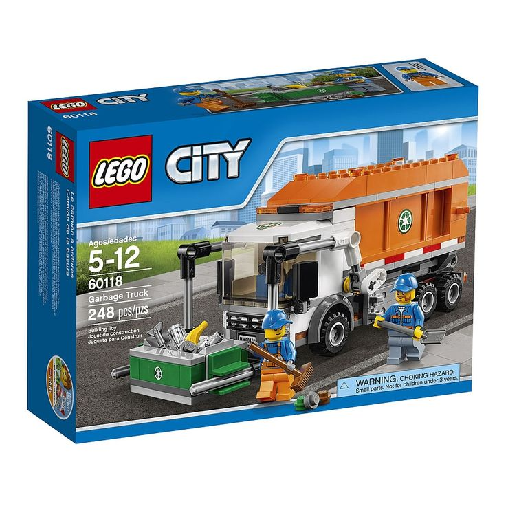 Climb in the cab of the garbage truck and get to work! Drive around LEGO City looking for trash. Pull up to a dumpster and empty it into the truck. Clean up any garbage that falls out, get back in the truck and head to the next container! The hard work is never done!