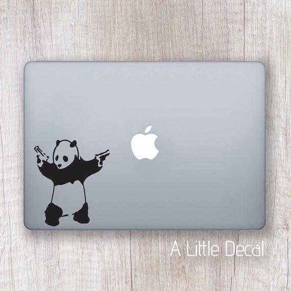 Banksy Panda Macbook Decal, Banksy Macbook Sticker, Banksy Laptop Decal, Banksy Laptop Sticker, Street Art Sticker