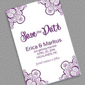 save the date with vintage ornament borders wedding invitation templates - Wedding Invitation Templates Free Download
