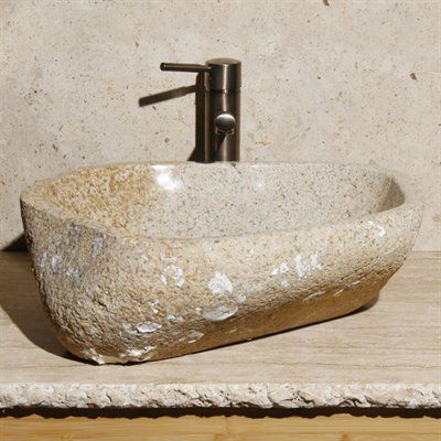 Allstone Group V-VNROS Oceanstone Natural Rock Vessel Sink