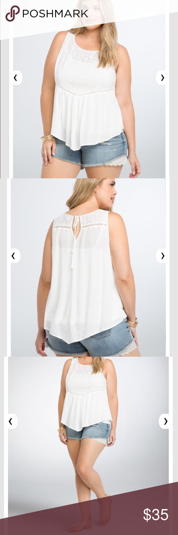 Plus Size Torrid Crochet Peplum Lace Tank Top ✨ Brand New with Tags! - Sold Out Online!  ✨ Length:  ✨ Bust:  ✨ Fabric: 90% Nylon 10% Spandex ❌ No Trades ❌ No Holds  Offers Welcomed  Bundle Discount torrid Tops Tank Tops