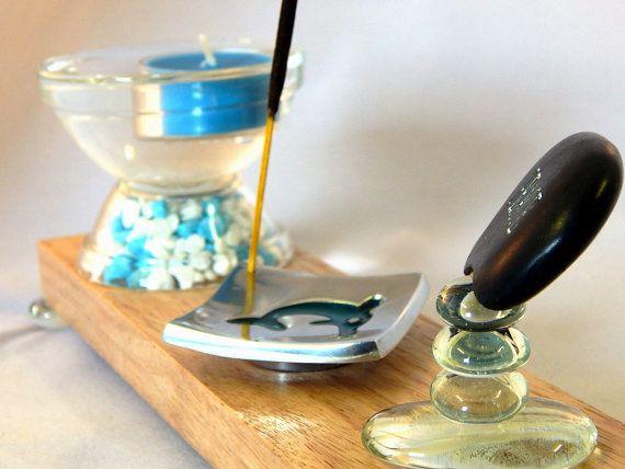 Floating Candle Incense Burner incense holder by MadeWithAltitude