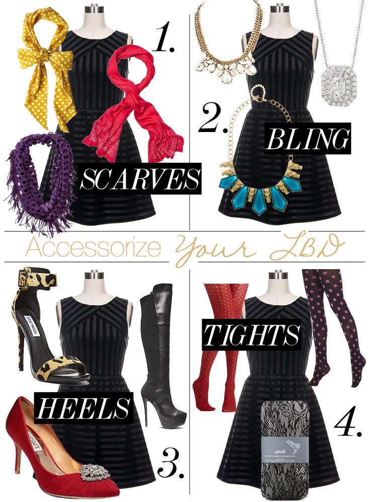 Accessorize Black Dress For Christmas