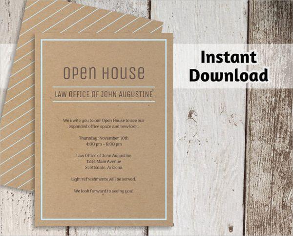 Open House Invite Templates Undangan