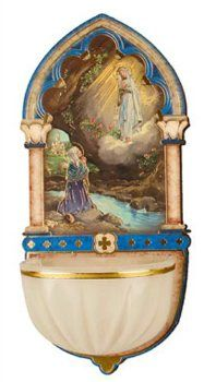 Luminous Lourdes Water Font.