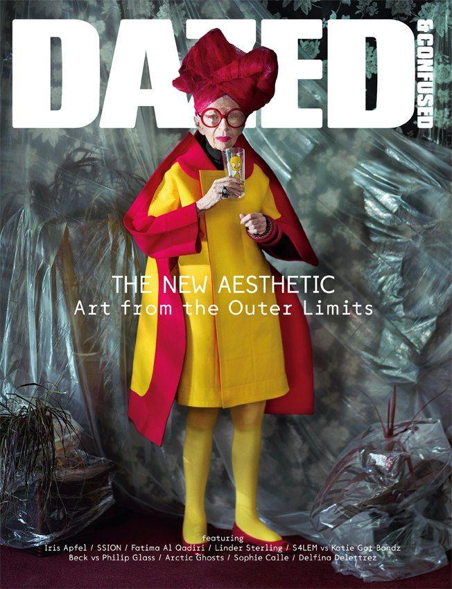 NOVEMBER, 2012. Iris Apfel shot by Jeff Bark; Styled by Robbie Spencer: http://www.dazeddigital.com/artsandculture/article/14901/1/dazed-confused-november-issue-the-art-issue