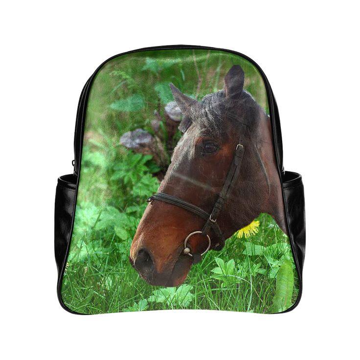 Horse and Grass Multi-Pockets Backpack. #FREEShipping #artsadd #lbackpacks #horses