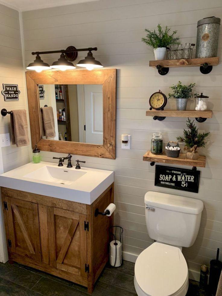 Rustic Bathroom Decoration Smallbathrooms Farmhouse Bathroom