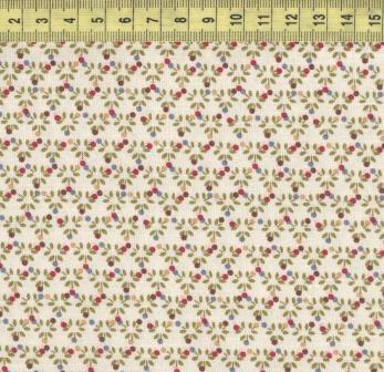Цветы треугольный узор на кремовом B6195 ivory