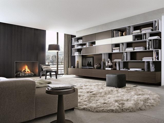 POLIFORM: Skip bookcase, Soho sofa, BB armchairs, Anna coffee table and Play pouf