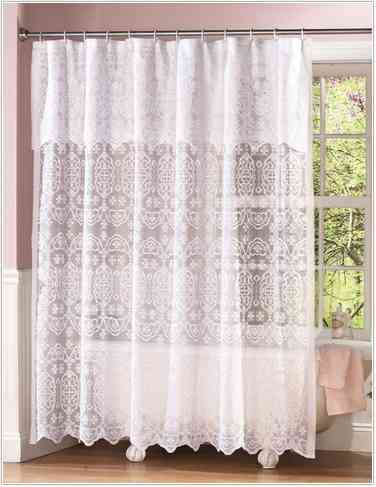 Fresco of Classic and Lovable Victorian Shower Curtains