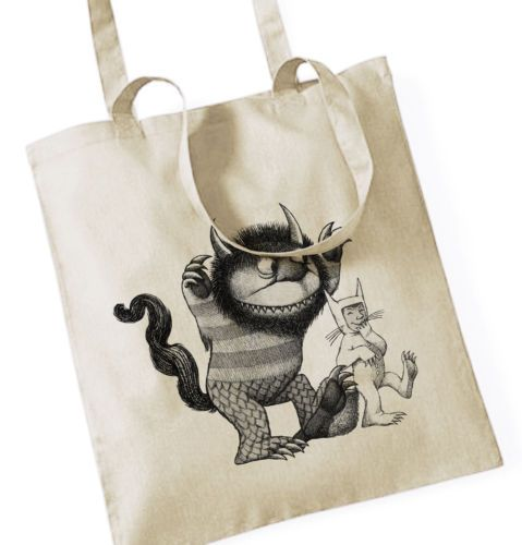 WO-DIE-WILDEN-KERLE-WOHNEN-III-WHERE-THE-WILD-THINGS-ARE-Jutebeutel-Tote-Bag-I