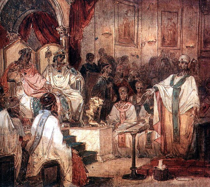 The Council of Chalcedon, was a church council held from October 8 to November 1, AD 451, at Chalcedon, on the Asian side of the Bosphorus, known in modern times as Kadıköy in Istanbul Province of Republic of Turkey, although it was then separate from Constantinople. The judgements and definitions of divine nature issued by the council marked a significant turning point in the Christological debates that led to the separate establishment of the church in the Western Roman Empire.